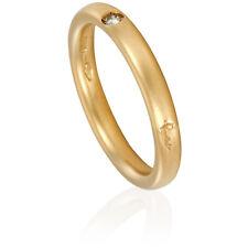 Pomellato Sandblasted Yellow Gold Diamond Ring - Size 3.5