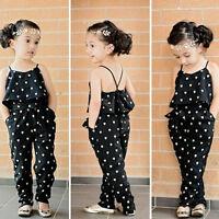 Toddler Baby Girls Summer Romper Belt Jumpsuit Bodysuit Clothes Outfits Sets Hot