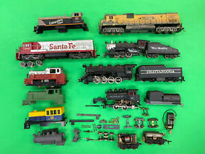 9 HO Locomotives and Shells for Parts or Kitbashing. Athearn, Tyco, Rivarossi, M