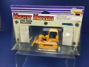 1988 ERTL, Mighty Movers, John Deere Bulldozer, Die-Cast Metal, #1043, NIP