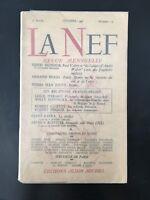 La Nef Revista Mensual Numéro 23 Albin Michel 1946