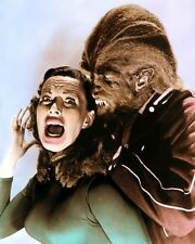 "MICHAEL LANDON YVONNE LIME TEENAGE WEREWOLF 11x14"" HAND COLOR TINTED PHOTO"