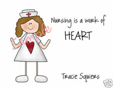 10 Nurse Personalized Stationary Thank You Note Cards - Very CUTE!