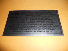 1970 1/2 FORD FALCON 429 N CODE ENGINE EMISSIONS DECAL