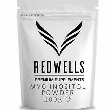 REDWELLS Pure 100g Myo Inositol Powder for PCOS & Fertility GMO Free Vegan
