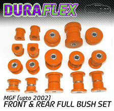 MGF (upto 2002) FRONT & REAR BUSH SET Orange Duraflex Polyurethane