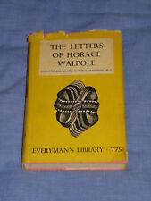 Grand Tour LETTERS OF HORACE WALPOLE 40s Everymans Library 775 Vintage 1948 Book