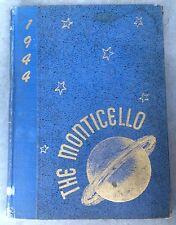 1944 THOMAS JEFFERSON HIGH SCHOOL YEARBOOK, THE MONTICELLO, RICHMOND, VA