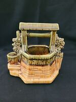 """VINTAGE ORIGINAL MCCOY ART POTTERY """"GRANT ME A WISH"""" WISHING WELL PLANTER CHAIN"""