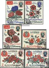 Jemen(Königreich) 182A-187A (kompl.Ausgabe) gestempelt 1965 Blumen