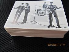 1964 BEATLES BLACK & WHITE REPRINT COMPLETE SET OF 55 TRADING CARDS McCARTNEY