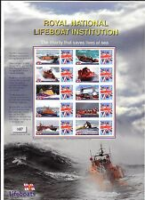 2005 GB COMMEMORATIVE STAMP SHEET 'ROYAL NATIONAL LIFEBOAT INSTITUTION'