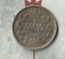 1902 Canada King Edward Cameo 5 Cents (nickel)- 92.5% AG- No MM