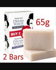 2 x 65g Genuine Kojie San Dream White Anti Aging Soap Whitening BEVI