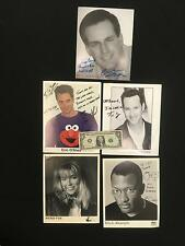 Lot of 5 Performer's Autographed Photos -Comedians Western MD College CAP BOARD