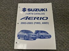 oxgord suzuki aerio sx in manuals \u0026 literature ebay2005 suzuki aerio parts catalog manual s sx lx awd sedan wagon 2 3l