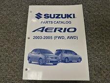 2004 Suzuki Aerio Parts Catalog Manual SX GL GLX GS LX S Wagon Hatchback 2.3L