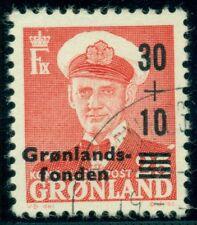 "Greenland #B2 (43v) Semi Postal showing ""f under r� variety, used, Vf Facit $45"