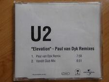 "Rare PROMO MAXI-CD: U2 - ""Elevation"" - Paul van Dyk Remixes (Island/ UNIVERSAL)"
