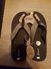 Mens brown Just Speed Thong Sandals Hard Sole
