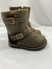 Ugg Harwell Bomber Boot Little Kid brown leather 6 1013501T toddler