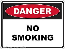 Danger No Smoking 5 Sticker Sign Decal Set For Public Safety WH&S OHS WHS