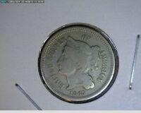 1865 Three Cent Nickel 3c ( # 1s71 ) Civil War coin