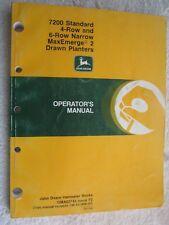 John Deere 7200 Maxemerge 2 Standard 4 & 6-Rn Planter Operator'S Manual Oma52743