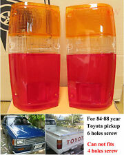 Tail Lights Lens Lenses Pair 84 85 86 87 88 For Toyota Pick Up Truck 1984-1988