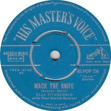 Vinyl 7 inch Single, ELLA FITZGERALD, Mack the knife LIVE (1960) 45POP736