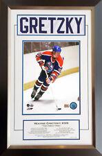 Wayne Gretzky Career Collectible White Namebar Ltd Ed #1/99 - Museum Framed