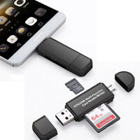 Micro USB OTG to USB 2.0 Adapter SD/Micro SD Card Reader For Smartphones/PC  EL