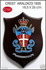 Crest Araldico dei Carabinieri CC Fascio Fascismo Carabiniere 18,5 x 26 cm NUOVO