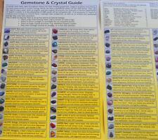 Gemstone & Crystal Guide - Covering 60 Gemstones, Chakras, Astrology, Cleansing