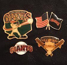 Lot Set of 4 San Francisco Giants Baseball Pin Badge ~ MLB ~ Vintage