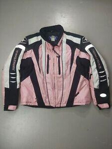 Polaris Womens Snowmobiling Jacket Insulated Powder Cuff Pink VTG pure ski large