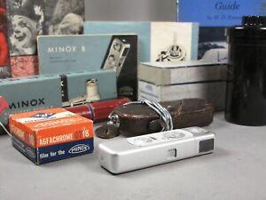 Minox Model B Subminiature Spy Camera w/ Accessories
