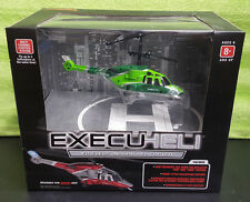 ExecuHeli Wireless Indoor Helicopter Up To 80 Foot Wireless Range - NEW Green
