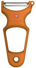Toolswiss Clasinox Hoja de Acero Inoxidable Pelador Verduras (Naranja) TS3369