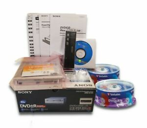 Sony DRU-810A DVD/CD ReWritable Disc Drive Dual Layer & Black Bezel + 50 DVD+R