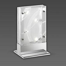 Decorativo Lámpara de mesa cromada y cristal transparente - Parte SATINADO incl.