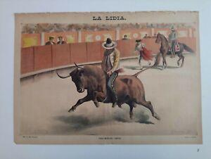 1889 La Lidia Revista Taurina VIII Núm 20 Toreo Mexicano Jineteo Toros Corrida++