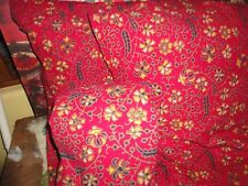 URBAN OUTFITTERS TAPESTRY MEDALLION RED BLACK GREEN (3PC) TWIN XL DUVET SET