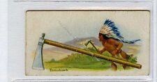 (Ga7243-100) Willards Canada, Indian Series, #3 Tomahawk 1925 G-VG