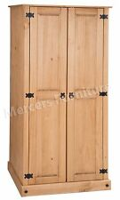 Corona Budget 2 Door Wardrobe Mexican Bedroom Solid Pine by Mercers Furniture®