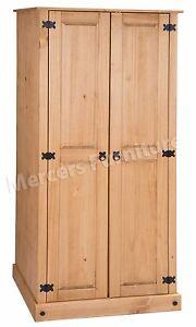 Corona Wardrobe 2 Door Budget Mexican Bedroom Solid Pine by Mercers Furniture®