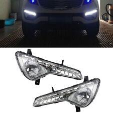 2x LED Daytime Running Fog Lights Lamps DRL White For Kia Sportage-R 2011-2014