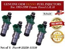 Genuine Reman 4pack OEM DENSO Fuel Injectors />91-92-93-94/< Toyota Tercel 1.5L I4