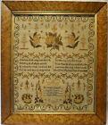 EARLY 19TH CENTURY VERSE & MOTIF SAMPLER BY SUSANNAH KINZETT AGED 10 - 1834