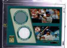 MLB 2001 TOPPS 50 YEARS   GAME USED  - MANNY RAMIREZ  DUEL JERSEY    NICE